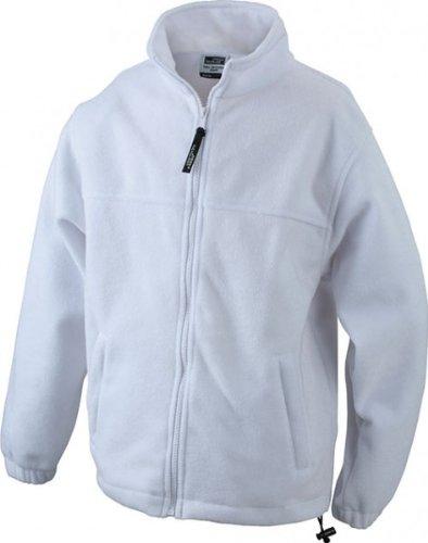 Veste en polaire homme *taille : taille s à 4XL *full zip les matelas grande taille Blanc Blanc 4XL