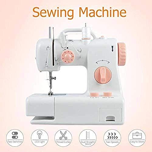 LDLL Naaimachine, draagbaar, elektrische naaimachine voor het inrijgen van de arm, gebruikt voor reparatie van stof en schoenen, geel draagbare naaimachine