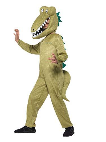 Smiffys SMIFFY 'S 41541L Offizielles Lizenzprodukt Roald Dahl Deluxe riesengroße Krokodil Kostüm, grün, L–UK Alter 10–12Jahre
