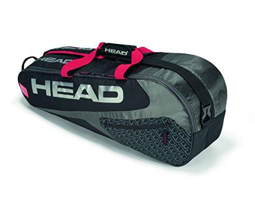 Head Elite 6R Combi, Borsa per Racchette da Tennis Unisex-Adulto, Nero/Rosso, Taglia Unica