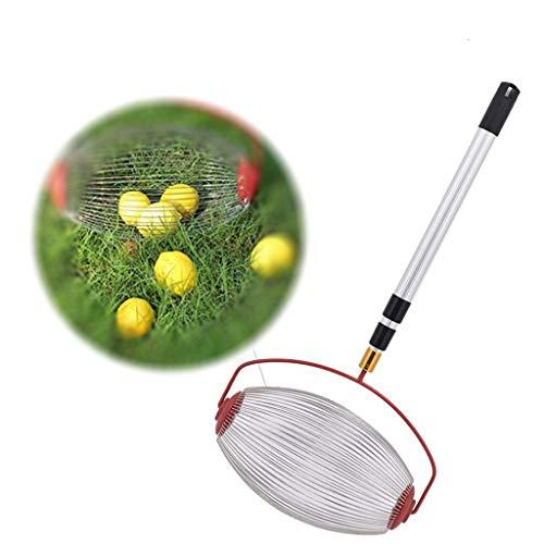 MWyanlan Recolector de Frutas Cosechadora de nueces Ligera y portátil con Varilla telescópica de aleación de Aluminio para nueces Pecanas Prunes Golf- A