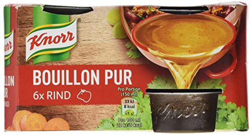 Knorr Bouillon Pur (für den vollmundigen Geschmack Rind), 4er pack (4 x 168 g)