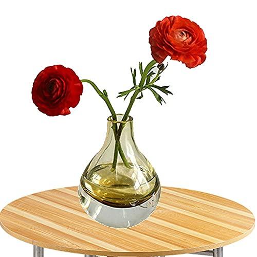 LXLAMP Floreros, jarrones Decorativos Modernos Altos jarrones Grandes de Suelo Florero de Cristal Claro cristalino de la Gota de Agua supergruesa Simple(ámbar)