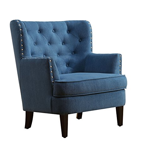 Millbury Home Chris Anna Tufted Upholstered Club Chair, Blue