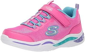 Skechers Kids Girls' Power Petals Sneaker, neon Pink/Multi, 1 Medium US Little Kid