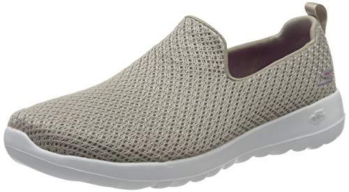 Skechers Go Walk Joy, Zapatillas Mujer, Gris (Taupe Textile/Trim TPE), 38 EU