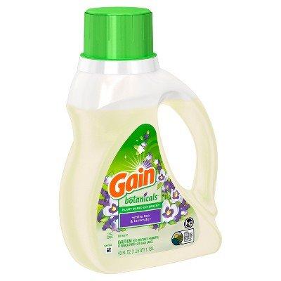 Gain Botanicals Plant Based Detergent, White Tea and Lavender, 25 Loads, 40 Fl Oz (Pack of 2)