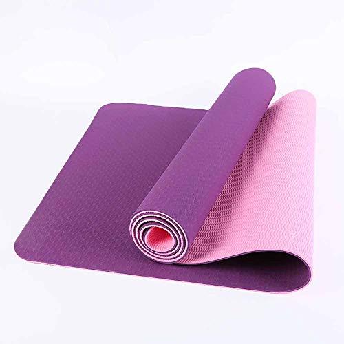 Gruesa Estera De La Yoga para Principiantes Inicio Mat Mujer Y Mujer Se Abrieron Y La Pérdida De Peso Alargado Aptitud Yoga Mat Antideslizante Duradero Adecuado para Uso Interior Y Exterior
