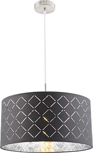 Lámpara de techo para dormitorio (tela, 40 x 140 cm), color gris