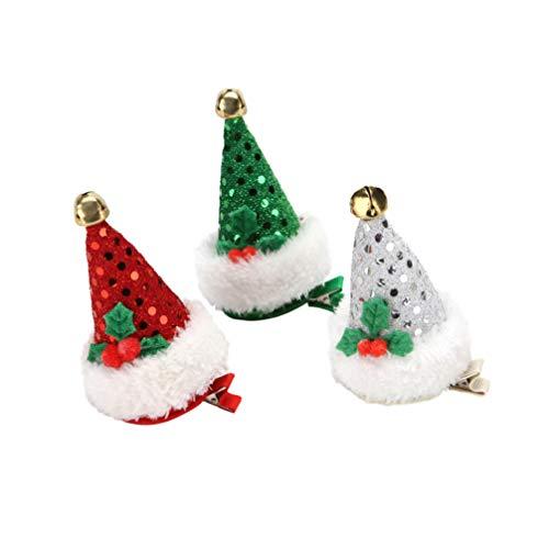 Lurrose Haarspangen für Weihnachten, Weihnachten, Weihnachten, Weihnachten, Weihnachtsstrumpf, Weihnachtsgeschenk, 3 Stück
