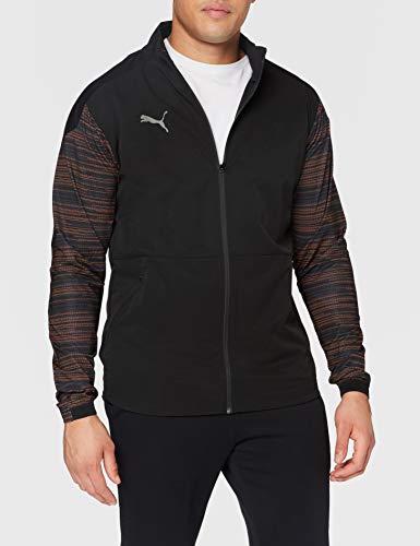 Puma Ftblnxt Pro - Giacca sportiva da uomo, Uomo, Pullover, 656844, Puma Black Shocking Orange, L