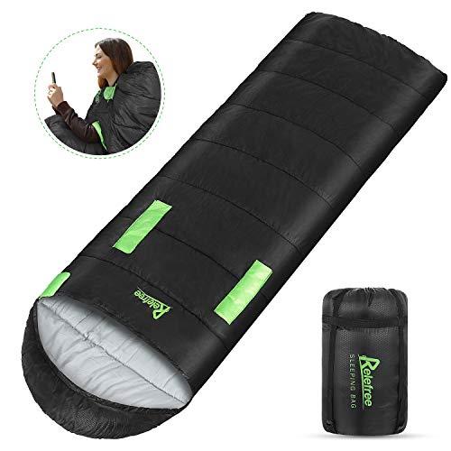 Relefree Schlafsack, Deckenschlafsack Leichtgewicht Warm Outdoor 100% Baumwollhohlfaser für Camping,Wandern