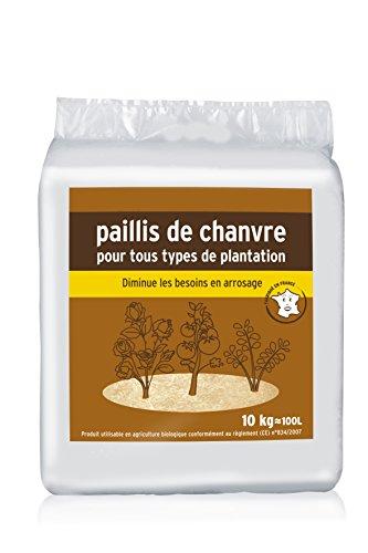 ALGOFLASH NATURASOL Paillis de chanvre, Utilisable en agriculture biologique, Prêt à l'emploi, 10 kg, NNCHA10