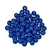 EFCO 6 mm 110-Stück Holzperlen, Mittel-Blau
