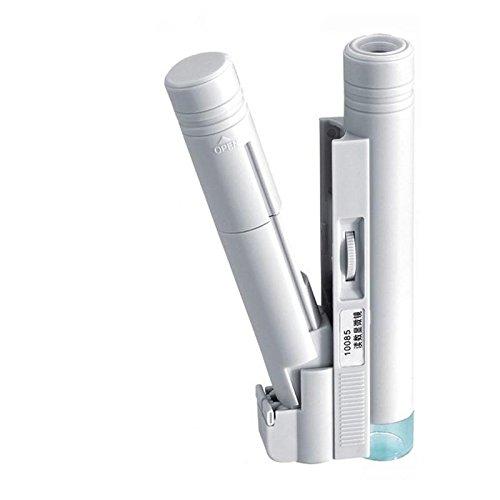 QQGG Lupa lupas de Gran Aumento MIC10085-1A 100X LED Microscopio portátil de Doble Tubo con Lupa de graduación Rango de medición 0-2cm Lupa de Lupa Gafas Lupa