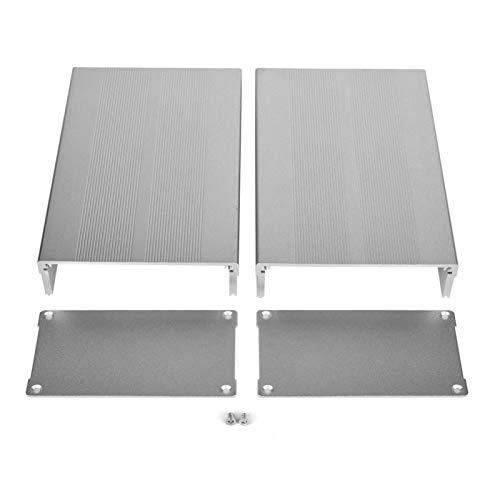 Jeanoko Abschirmungssignal Aluminiumgehäuse Kühlgehäuse Sand Silber für Leiterplatte