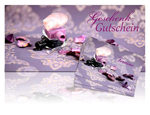 Laila Nagellack Card-Collection 30/200 | 30 Lila Gutscheinkarten - 200 Lila Terminkärtchen -...