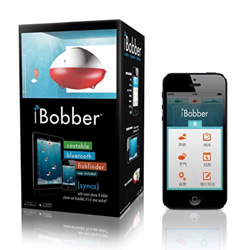 LOY Fischfinder tragbarer drahtloser Sonar-Fischdetektor 4.0 Bluetooth-Link-Mobiltelefon GPS-Positionierung (APP ibobber)