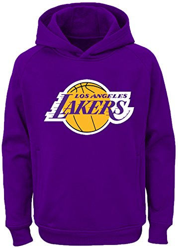 Outerstuff NBA Youth Team Color Performance Primary Logo Pullover Sweatshirt Hoodie (Small 8, Los Angeles Lakers)
