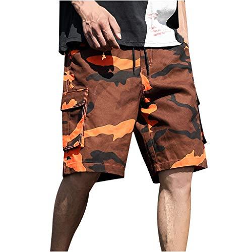 JURTEE Pantalones Cortos Hombre Camuflaje Hombre Bermudas Impresión Cargo Cortos Casual Hombre Bermudas Deportivos Elástico Shorts Hombre Deporte
