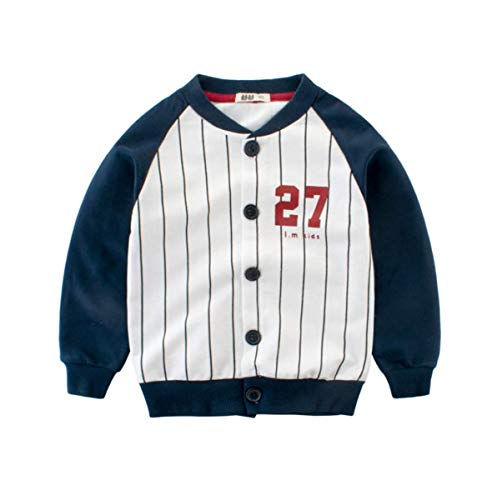 AIWUHE Baby Kleidung Langärmelige Jacke Casual Sportbekleidung Baseball Uniform Langarm Stickerei Mantel Herbst Jacke