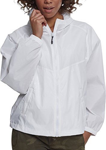 Urban Classics Damen Ladies Oversize Windbreaker Jacke, Weiß (White 00220), X-Large (Herstellergröße: XL)