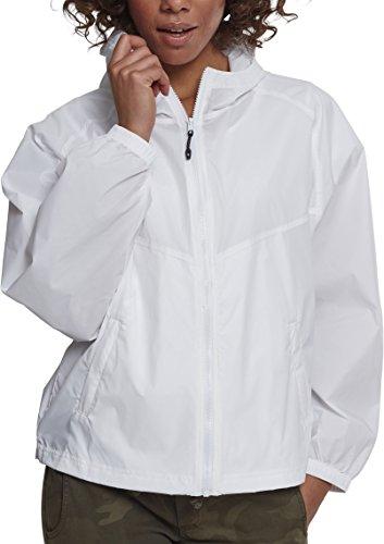 Urban Classics Damen Ladies Oversize Windbreaker Jacke, Weiß (White 00220), Large (Herstellergröße: L)