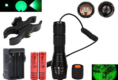 WINDFIRE Green LED Light 300 Yards Tactical Flashlight Zoomable Spot Flood Light Torch Coyote Hog Fo - http://coolthings.us