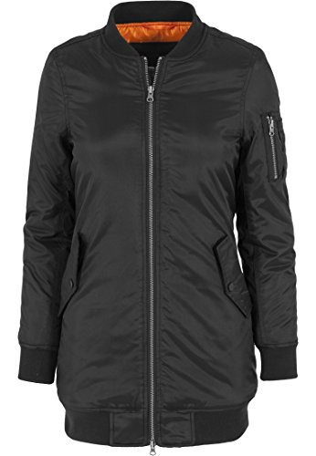 Urban Classics Damen Jacke Jacke Long Bomber Jacket schwarz (Schwarz) Medium