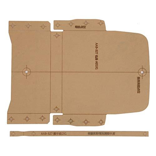 Acrylvorlage Notebook Cover Template Set, für Lederschneiden Crafts Wallet Acrylschablone