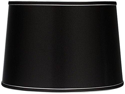 Sydnee Collection Satin Black Drum Shade 14x16x11 (Spider) - Brentwood