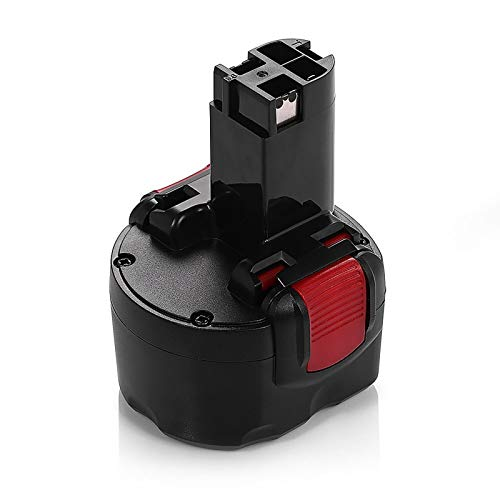 Venghts PSR960 Batería para Bosch BAT048, REEXBON 9.6V 2.0Ah / 2000mAh Batería de Repuesto Ni-Mh para Bosch BAT100 BAT119 2607335461 2607335272 PSR 9.6VE-2, GSR 9.6VE-2, GSR9.6, GDR 9.6