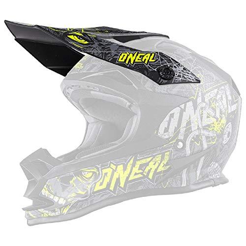 O'NEAL | Mountainbike-Helm-Ersatzteile | MTB Enduro Mountainbike | Ersatzschirm Helm Evo | 7SRS Helmet Evo Menace | Grau Neon-Gelb | One Size