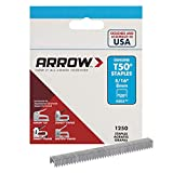 Arrow Fastener 505 Genuine T50 5/16-Inch Staples, 1,250-Pack