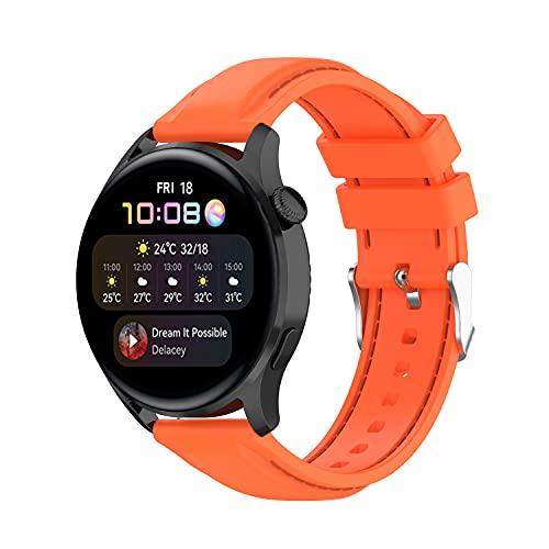Yikamosi Compatible con Huawei Watch 3/Watch 3 Pro Correa,22MM liberación rápida Silicona Suave Cierre de Acero...