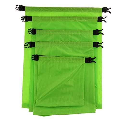 MagiDeal Sacs à Cordons, Sac de Rangement Imperméable, Portable Organisateur Stockage Trousse de Toilette Pochette pour Plage/Camping/Voyage/Déplacement - Vert, comme décrit
