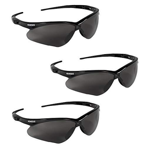 Kleenguard V30 22475 Nemesis Safety Glasses 3020121 (3 Pair) (Black Frame with Smoke Anti-Fog Lens)