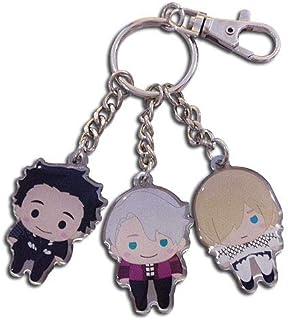 Yuri!!! On Ice Key Chain - SD Yurio, Yuri & Victor Pinched Metal