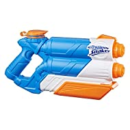 2-barrel soakage Blasts 2 streams at once Pump to fire Holds up to 33 fluid ounces (975 millilitres)