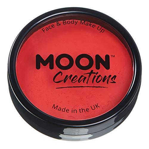 Moon Creations - Pittura Professionale per Viso ad attivazione ad Acqua - Rosso Brillante