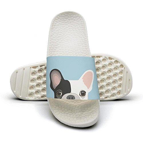 Cute French Bulldog Face flip flops Slippers for women