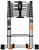 2.3M-5.9M Aluminum Telescopic Ladders Extendable Steps with Moving Wheels,Portable Straight Ladder for Industrial