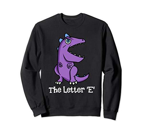 Monster-Alphabet! Der Buchstabe 'E' Kindergarten Kleinkind Sweatshirt