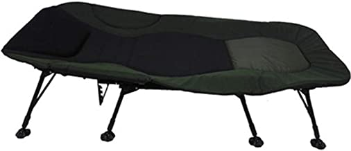 Home Outdoor/Folding Bed Outdoor Leisure Camping Bed Camp Bed Big Bed, Dark Green (Color : Green)