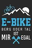 E-Bike Berg Oder Tal Ist Mir Egal: Din A5 Kariertes Heft (Kariert) Mit Karos Für E-Biker | Notizbuch Tagebuch Planer E Bike Elektrofahrrad | Notiz ... Kran Baustelle E-Bike Pedelec Ebike Notebook