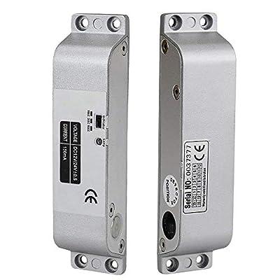 OBO HANDS Fail Safe Electric Drop Bolt Lock DC12V for Door Access Control Security Lock Door (X Bolt Lock)