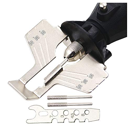 Chiloskit Sägenschärf-Set, Handschleifer, Rasenmäher und Gartenwerkzeug-Aufsatz, kompatibel mit Dremel