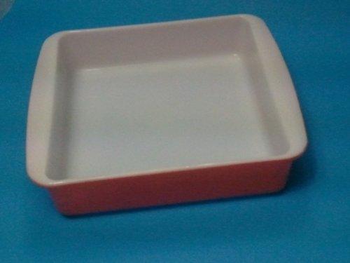 Vintage Pyrex 8' Square Coral Red Baking Dish 222