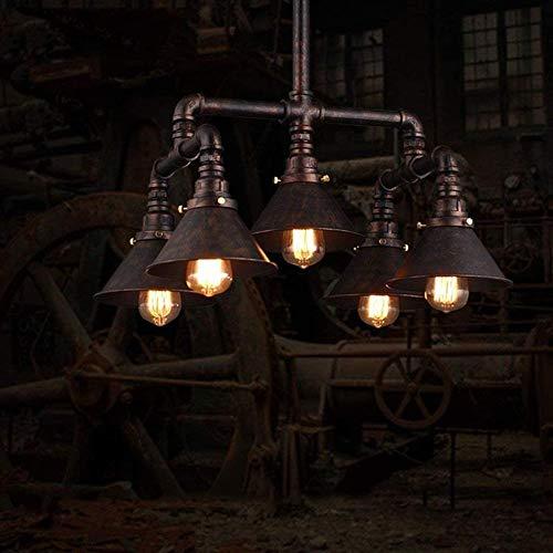 Arañas Duraderas Retro Industrial Feng Shui Araña Americana Sala De Estar Personalidad Nostálgico Techo Lámpara Bar Restaurante Decoración Luces Colgantes Iluminación Colgante Hyococ