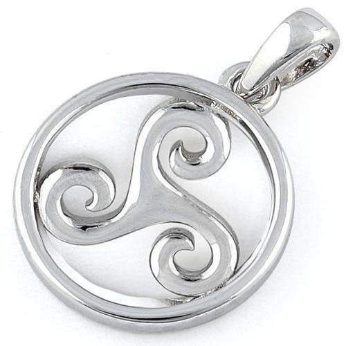 Sterling Silver Druid Celtic Symbol Pendant Silver Fashion Jewelry Charm Solid Fashion Jewelry Fashion Jewelry Gift HANDMADE REAL Promise Love Women Wedding Gift